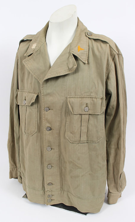WWII US Army Medical Officer 1st pattern HBT combat jacket