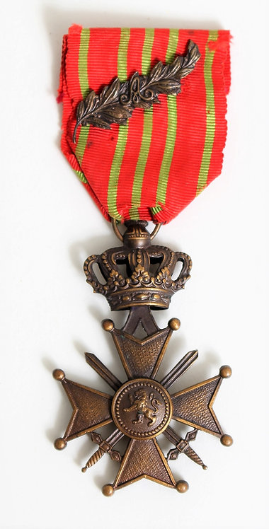 WWII Belgium Croix de Guerre with palm
