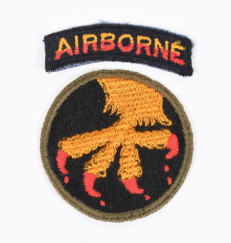 WWII 17th Airborne Bloody Talon shoulder patch with matching tab