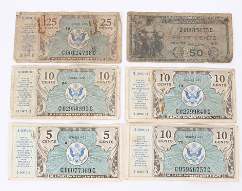 WWII US Armed Forces Military payment certificate series 472