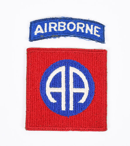 WWII 82nd Airborne Division greenback shoulder patch