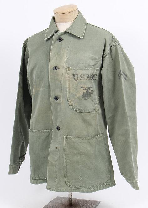WWII USMC Corporal named P41 HBT combat shirt