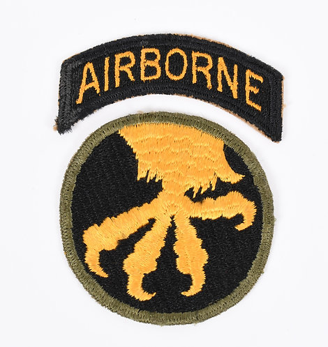 WWII 17th Airborne Division reverse Talon shoulder patch