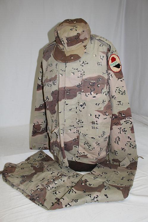 Iraqi Army 210th Battalion chocolate chips camo BDU uniform grouping
