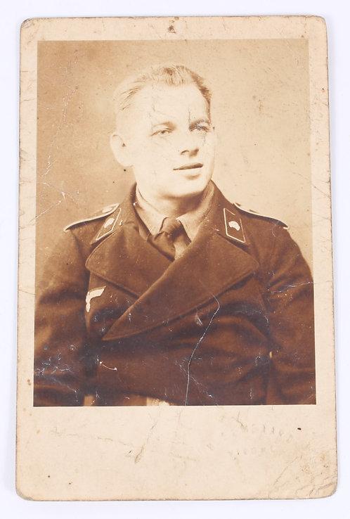 WWII German Panzer Soldier in uniform 3 x 5 studio photo