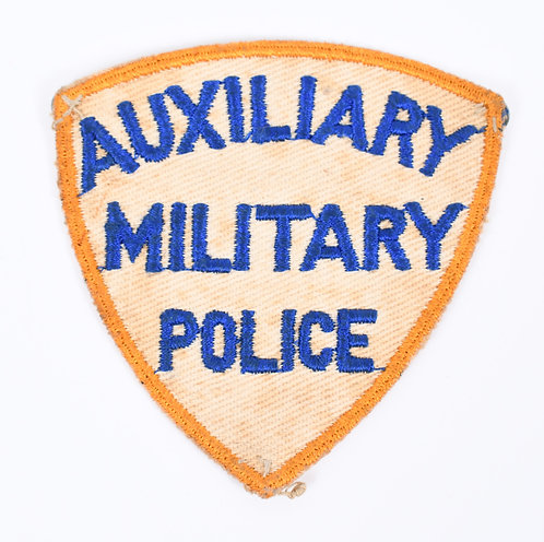WWII US Auxiliary Military Police yellow border shoulder patch