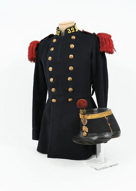 French 32nd Infantry Model 1872 Dress Uniform & Shako