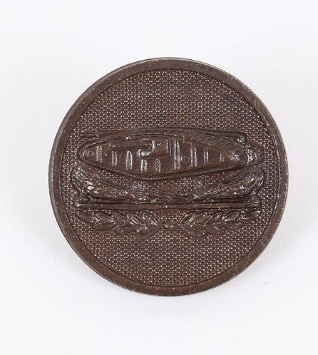 WWI US Army Tank Battalion EM / NCO NS Meyer collar disc insignia