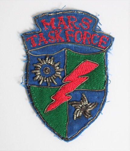 WWII Merrills Marauders Mars Task Force theater made patch