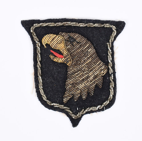 WWII 101st Airborne Division Theater made heavy bullion shoulder patch