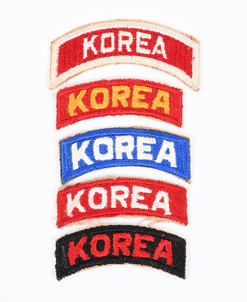 US Army Korea shoulder tab patch lot of 5