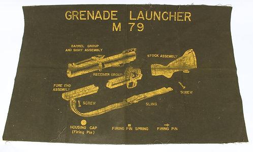 Vietnam War US Army M79 grenade launcher cleaning mat