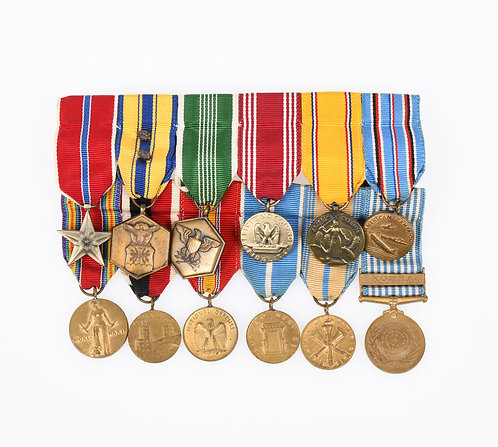 WWII - Korea US Army enlisted man mini medals bar lot of 12