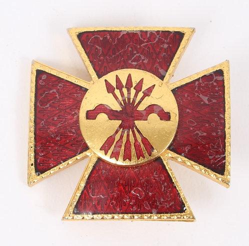Spanish Civil War Falange nurse Red Cross badge