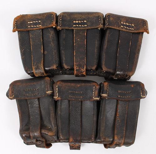 WWII German K98 ammo leather pouch lot of 2