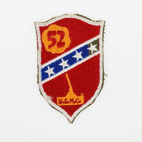 WWII USMC 52nd Marine Defense Battalion shoulder patch
