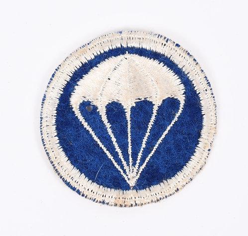 WWII US Airborne Division Parachute Infantry EM cap patch dark blue on felt
