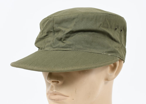 WWII US ARMY OD COTTON FIELD CAP WITH VISOR DATED 1944