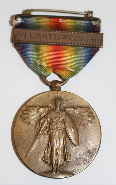 WWI USN Navy Victory Medal with Atlantic Fleet clasps