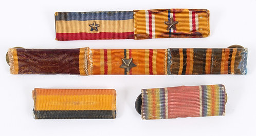 WWII USMC Marine Corps 1/2 inch ribbon bar lot of 7