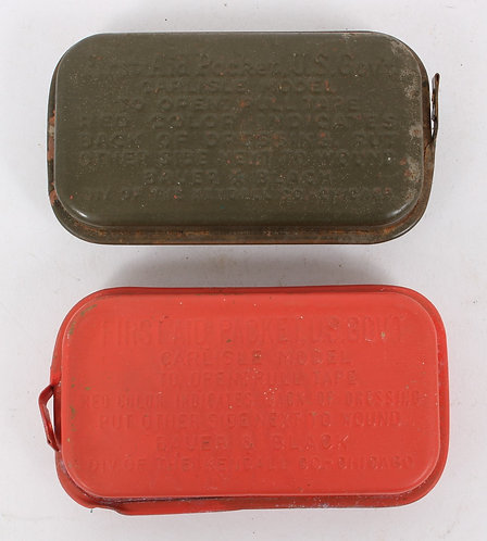 WWII US Army first aid kit carlisle lot of 2