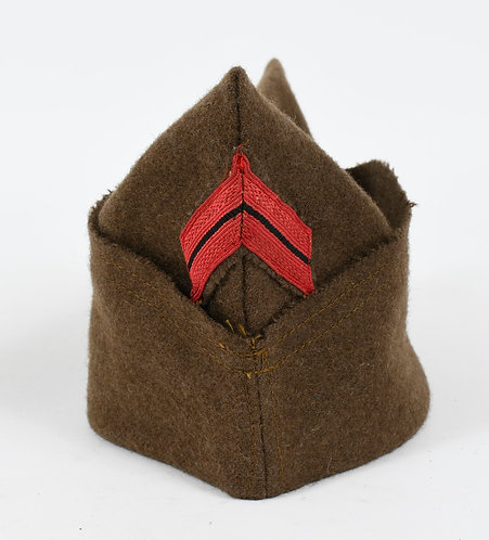 WWII FRENCH ARMY CORPORAL OVERSEAS HAT DATED 1938