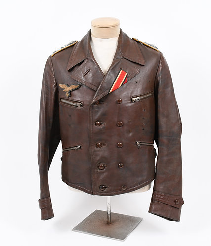 WWII German Luftwaffe Pilot leather flight jacket