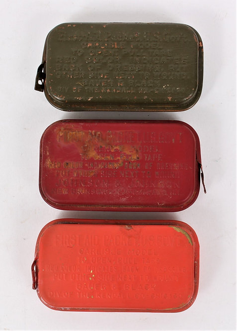 WWII US Army first aid kit carlisle lot of 3