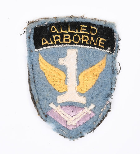 WWII US Army 1st Allied Airborne Paratrooper shoulder patch cotton on felt