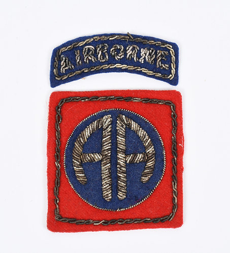 WWII 82nd Airborne Division British made bullion embroidered shoulder patch