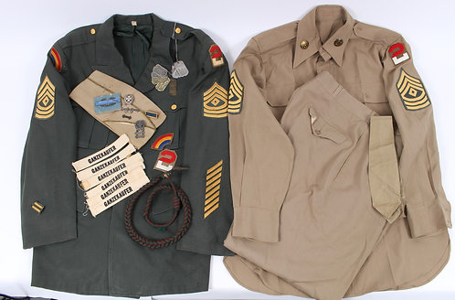 WWII - Cold War US Army named uniform