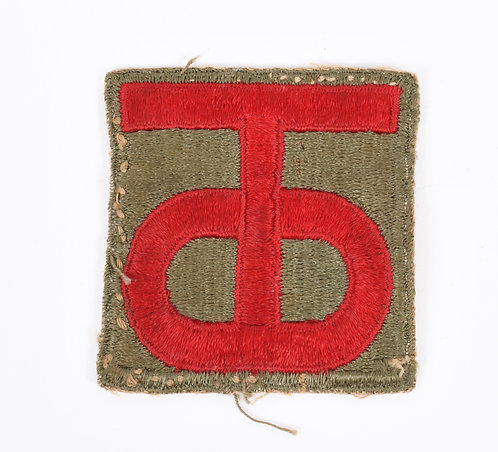 WWII US Army 90th Infantry Division shoulder patch