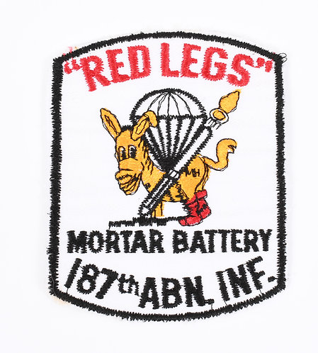 US Army 187th Airborne Inf Red Legs Mortar Battery patch