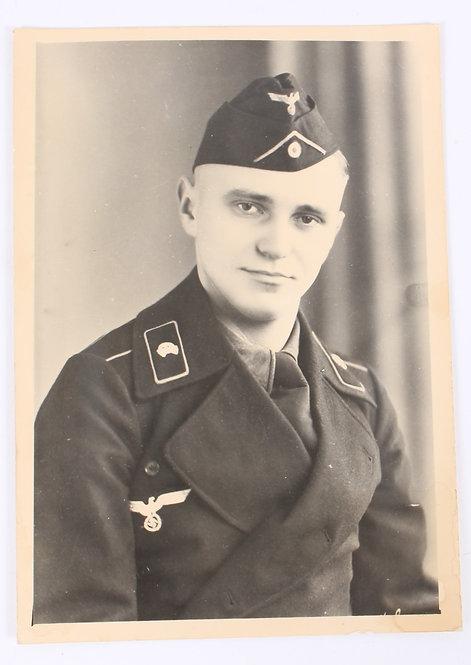 WWII German Panzer Soldier in uniform 4 x 6 studio photo