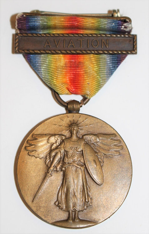 WWI USN Navy Victory Medal with Aviation clasps