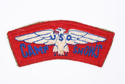 WWII US Armed Forces USO Camp Shows shoulder patch