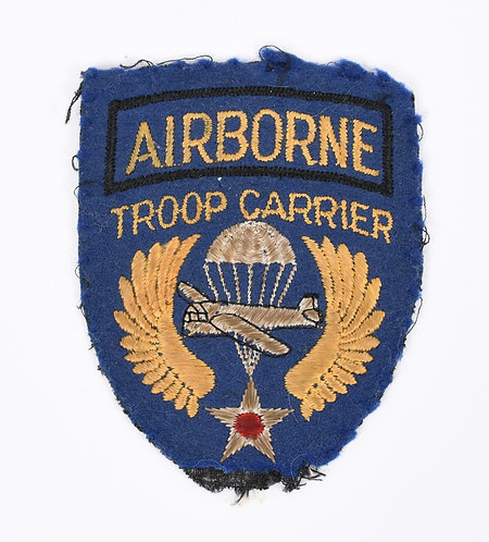 WWII US Airborne Troop Carrier shoulder patch cotton on felt