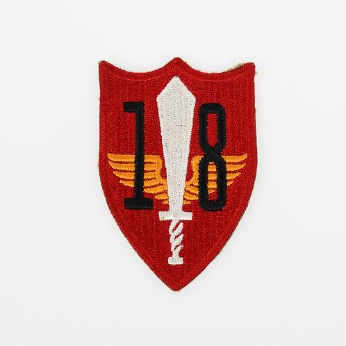 WWII USMC 18th Marine defense battalion shoulder patch