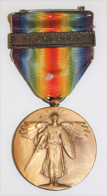 WWI USN Navy Victory Medal with Transport clasps