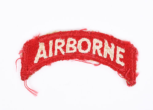 WWII US Airborne red shoulder tab patch