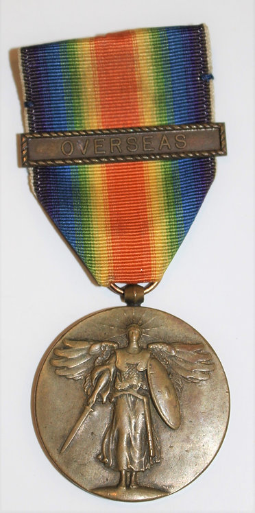 WWI USN Navy Victory Medal with Overseas clasps