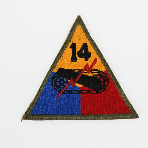 WWII 14th Armored Division shoulder patch