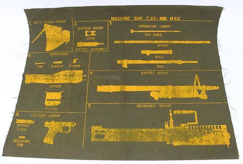 copy of Vietnam War US Army M60 machine gun cleaning mat