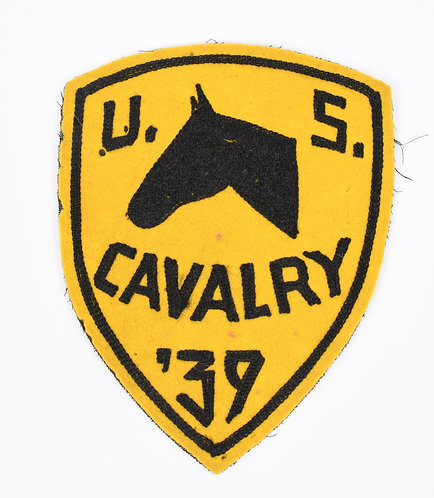 Pre WWII US Army Cavalry 39 large felt patch