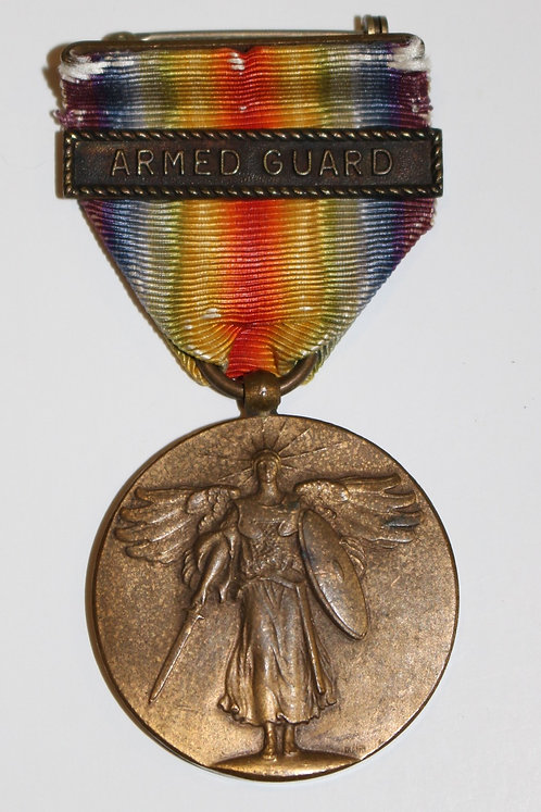 WWI USN Navy Victory Medal with Armed Guard clasps