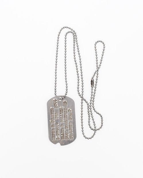 WWII US Army Officer dogtag & chain
