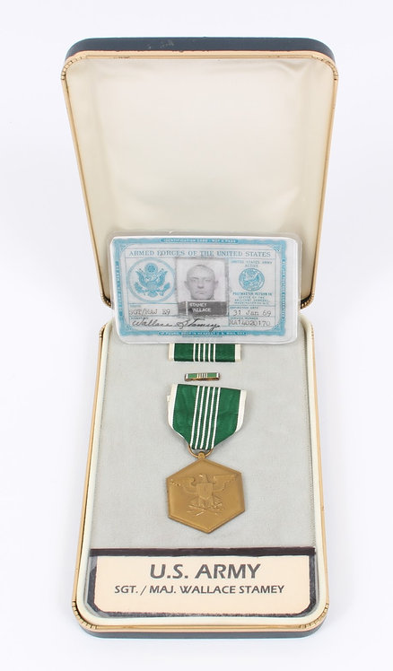 Vietnam War US Army Sgt Major named Commandation medal & ID card