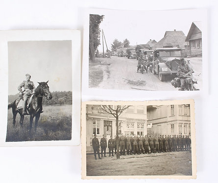 WWII German Army soldier field picture lot of 3
