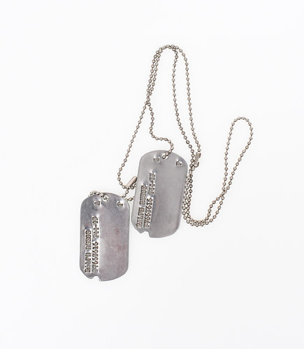 WWII US Army Enlisted Man dogtag & chain set