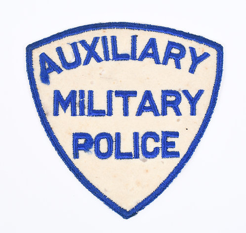 WWII US Auxiliary Military Police blue border shoulder patch